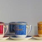 Kräutertee-Tassen mit Deckel und Sieb in verschiedenen Ausführungen